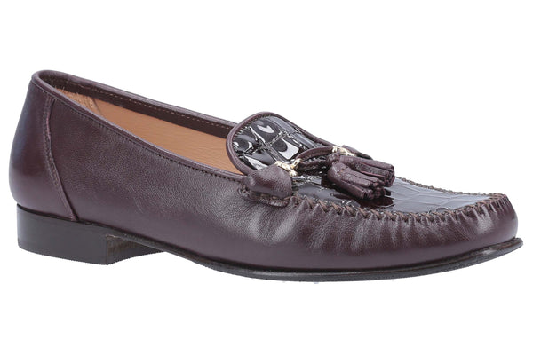 HB Hendon 883 Womens Slip On Moccasin With Tassel Trim