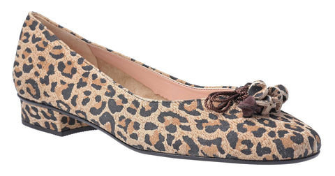 HB Jest Ladies Bow and Toggle Trim Dress Pump Leopard