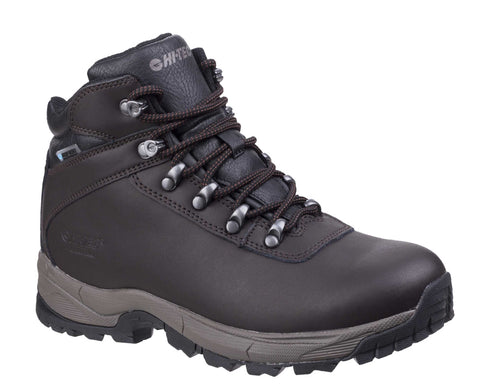 Hi-Tec Eurotrek Lite Waterproof Walking Boots Dark Chocolate
