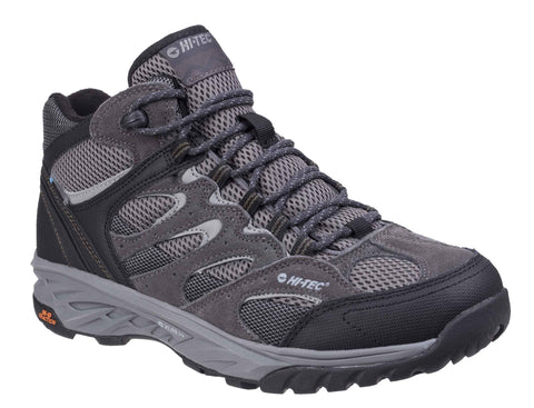 Hi-Tec Wild-Fire Mid I Waterproof Walking Boots Charcoal/Black/Olive Night