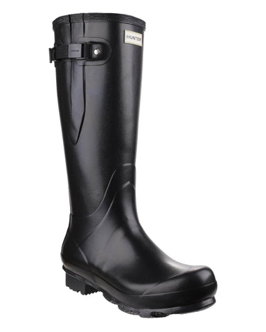Hunter Norris Field Side Adjustable Mens Wellington Boot Black