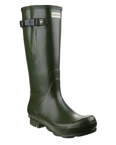 Hunter Norris Field Side Adjustable Womens Wellington Boot Green