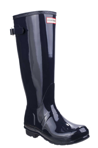 Hunter Original Back Adjustable Gloss Wellington Navy