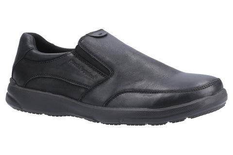 Hush Puppies Aaron Slip On Shoe Black