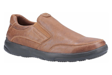 Hush Puppies Aaron Slip On Shoe Brown