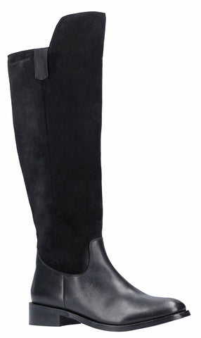 Hush Puppies Alani Zip Up Long Boot Black