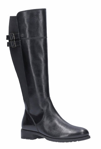 Hush Puppies Arla Long Zip Up Boot Black