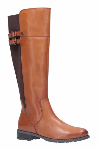 Hush Puppies Arla Long Zip Up Boot Tan