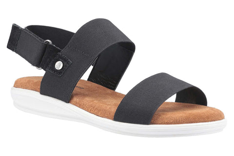 Hush Puppies Ashley Touch Fastening Strap Sandal Black
