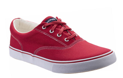 Hush Puppies Byanca Lace Up Trainer Red