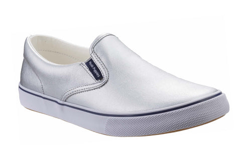 Hush Puppies Byanca Slip On Womens Metallic Leather Casual Shoe