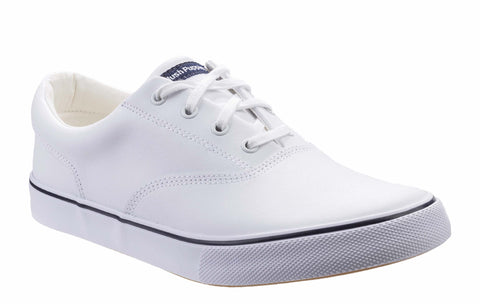 Hush Puppies Byanca Lace Up Trainer White Leather