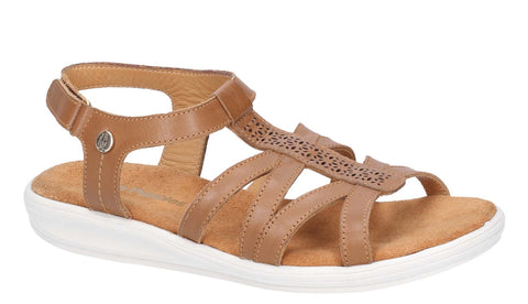 Hush Puppies Callie Touch Fastening Shoe Tan