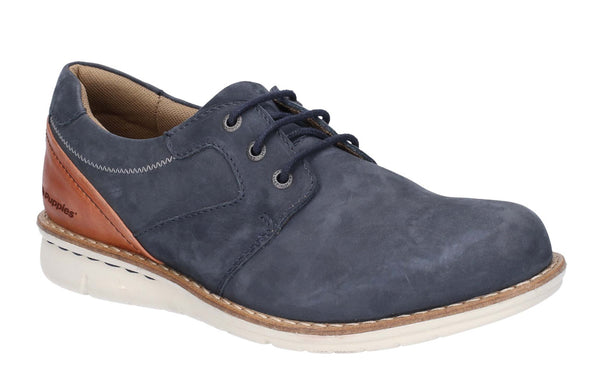 Hush Puppies Chase Casual Lace Up Shoe Navy/Brown