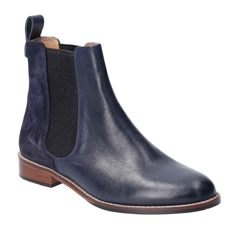 Hush Puppies Chloe Slip On Ankle Boot Navy