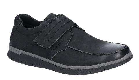 Hush Puppies Duke Velcro Shoe Black
