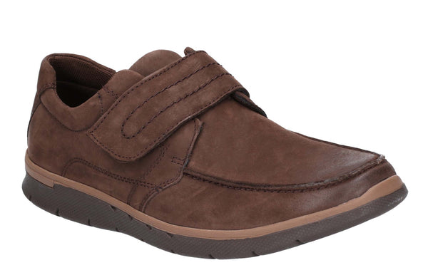 Hush Puppies Duke Velcro Shoe Brown