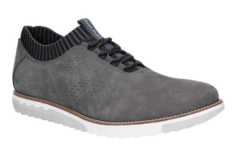 Hush Puppies Expert Knit Oxford Lace Up Trainer Dark Grey