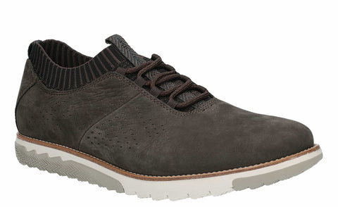 Hush Puppies Expert Knit Oxford Lace Up Trainer Off Black