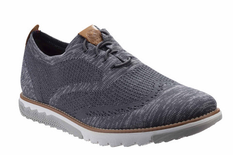 Hush Puppies Expert Wingtip Knit BouncePLUS Lace Up Shoe Dark Grey Multi Knit