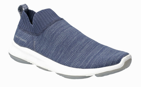Hush Puppies Free BounceMAX Slip On Trainer Navy Knit