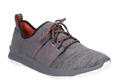Hush Puppies Geo Lace Up Trainer Dark Grey
