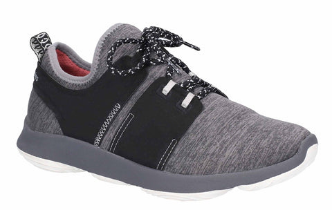 Hush Puppies Geo BounceMAX Womens Mesh Textile Lace Up Trainer