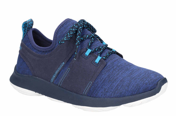 Hush Puppies Geo Womens Mesh Textile Lace Up Trainer