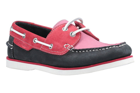 Hush Puppies Hattie Lace Up Boat Shoe Pink/Navy