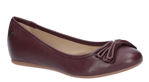Hush Puppies Heather Bow Ballet Shoe Wine