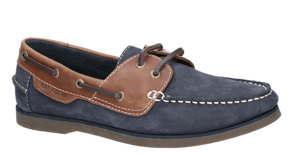 Hush Puppies Henry Classic Lace Up Shoe Boot Blue/Tan