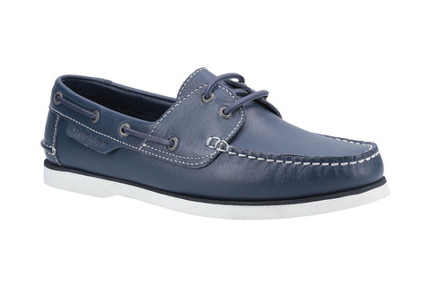 Hush Puppies Henry Mens Leather Lace Up Boat Shoe