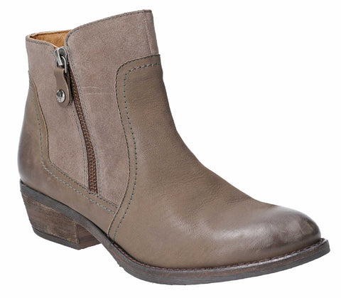 Hush Puppies Womens Isla Zip Up Ankle Boot
