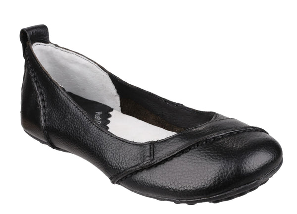 Hush Puppies Janessa Womens Slip On Casual Pump Black