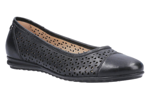 Hush Puppies Leah Ballerina Pump Black