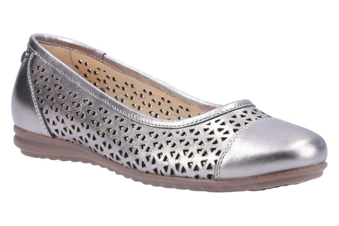 Hush Puppies Leah Ballerina Pump Pewter
