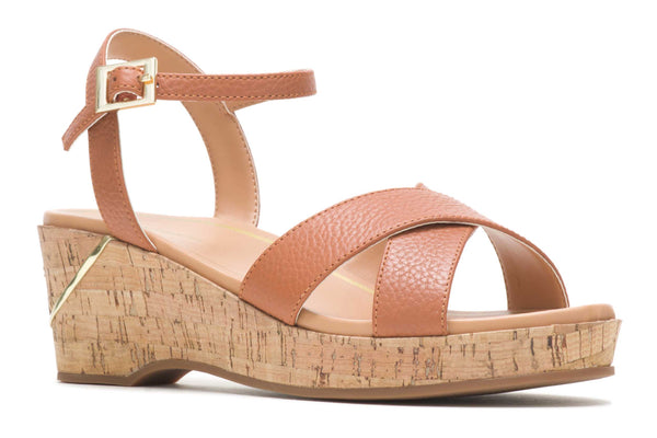 Hush Maya Qtr Strap Womens Wedge Sandal