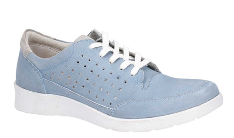 Hush Puppies Molly Lace Up Shoe Blue
