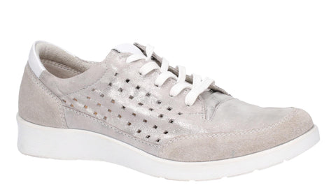 Hush Puppies Molly Lace Up Shoe Silver