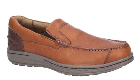 Hush Puppies Murphy Victory Causal Slip On Moccasin Shoe Tan