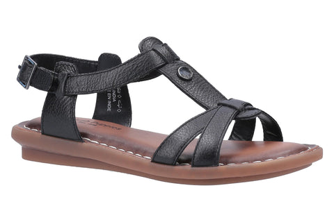 Hush Puppies Olive T Strap Womens Leather Casual Sandal
