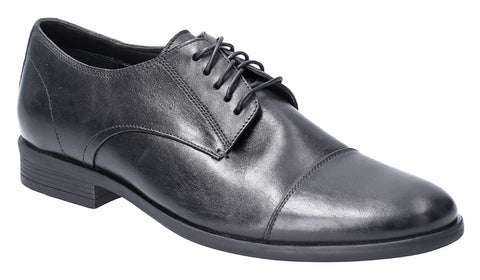 Hush Puppies Ollie Cap Toe Lace Up Shoe Black