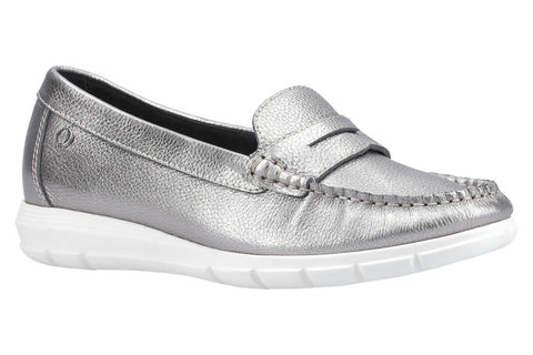 Hush Puppies Paige Slip On Loafer Silver