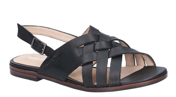 Hush Puppies Riley Buckle Strap Sandal Black