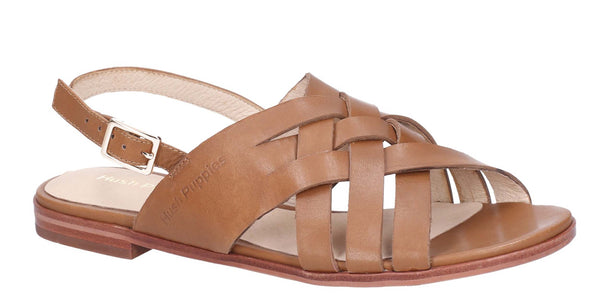 Hush Puppies Riley Buckle Strap Sandal Tan