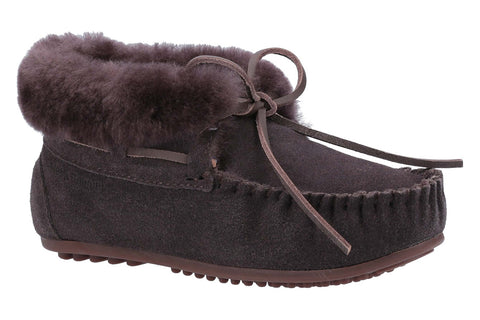 Hush Puppies Rylee Womens Mocassin Suede Slippers