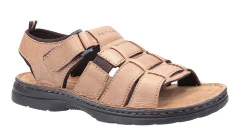 Hush Puppies Spectrum Fisherman Touch Fastening Sandal Brown