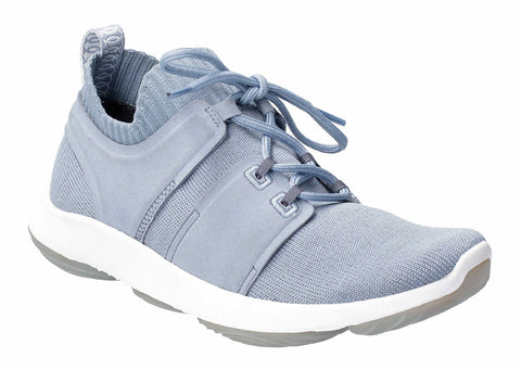Hush Puppies World BounceMax Lace Up Trainer Dusty Blue
