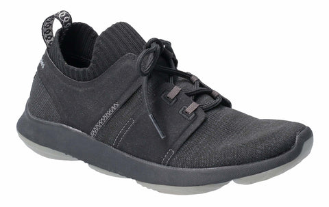 Hush Puppies World BounceMax Lace Up Trainer Black