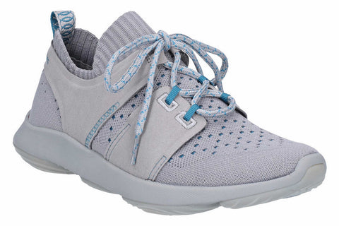 Hush Puppies World BounceMAX Mens Knit Textile Lace Up Trainer